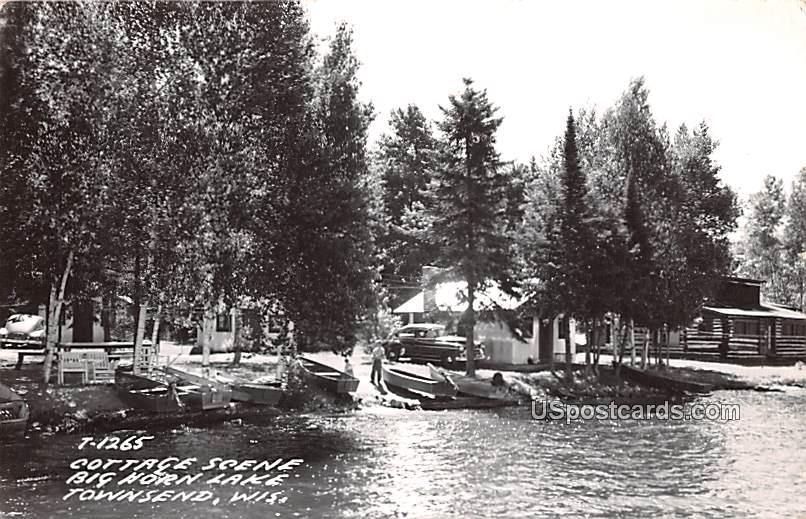 Cottage Scene - Townsend, Wisconsin WI Postcard