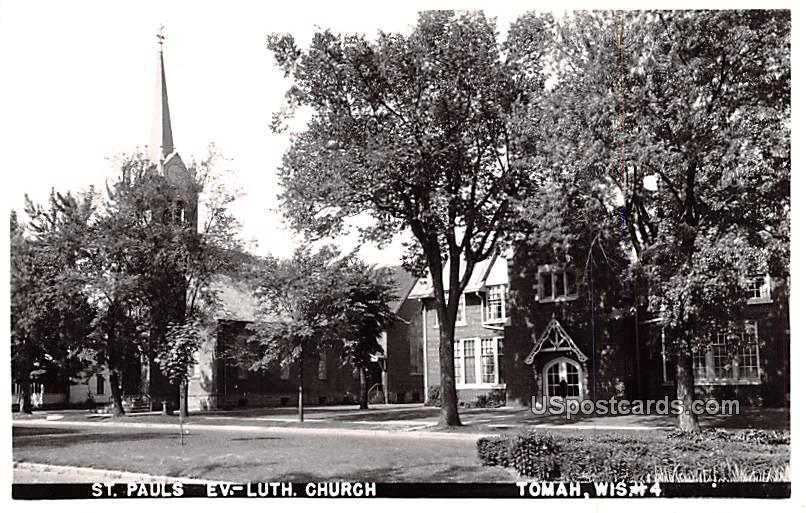 St Pauls Evangelical Church - Tomah, Wisconsin WI Postcard