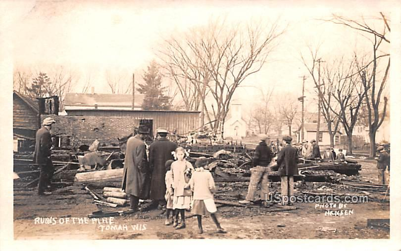 Ruins of the Fire - Tomah, Wisconsin WI Postcard