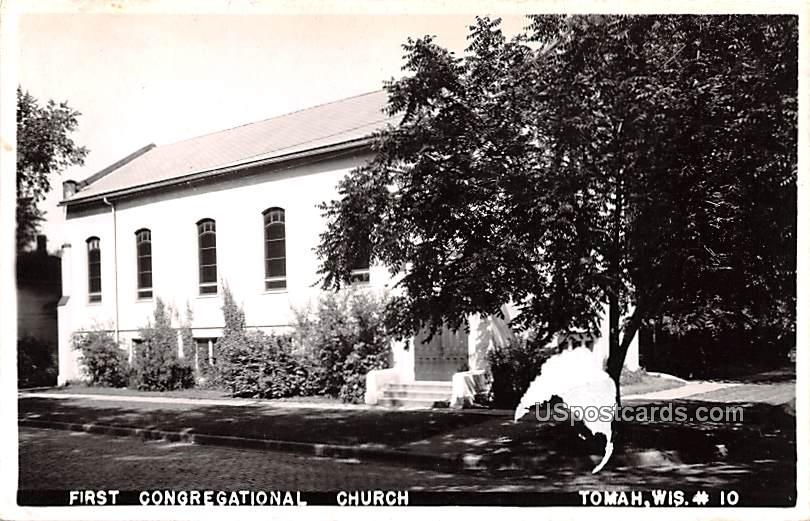 First Congregational Church - Tomah, Wisconsin WI Postcard
