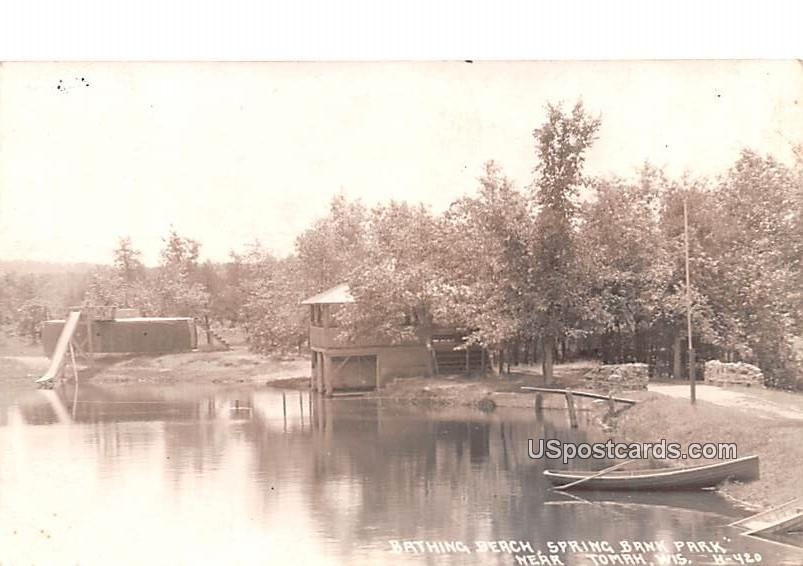 Bathing Beach - Tomah, Wisconsin WI Postcard