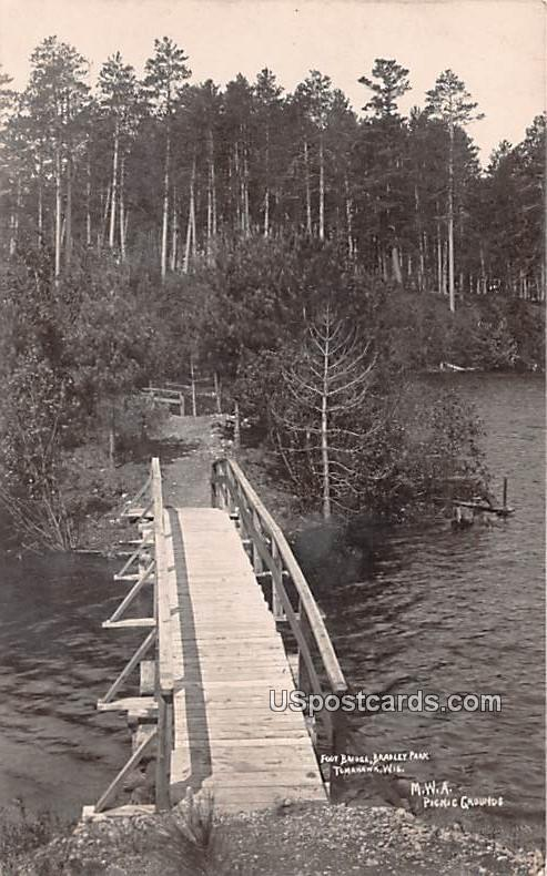 Foot Bridge - Tomahawk, Wisconsin WI Postcard