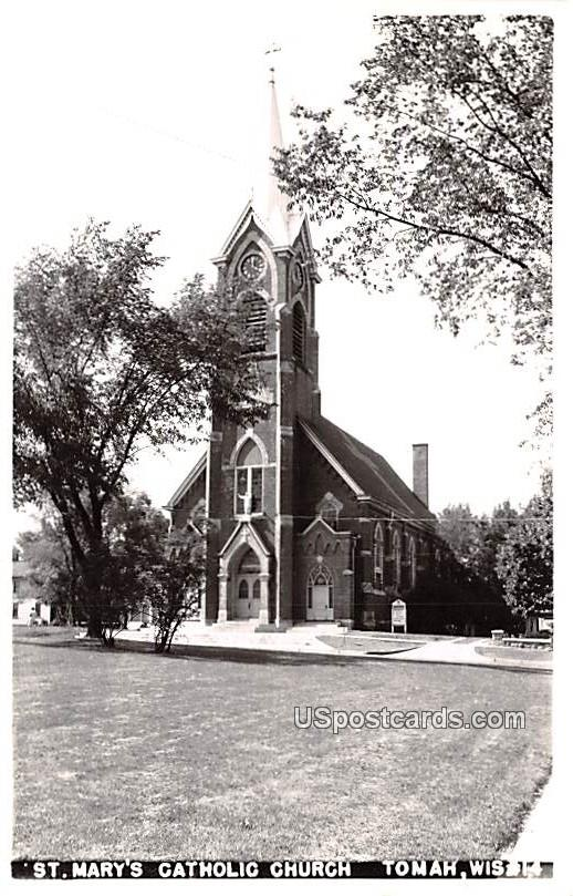 St Mary's Catholic Church - Tomah, Wisconsin WI Postcard