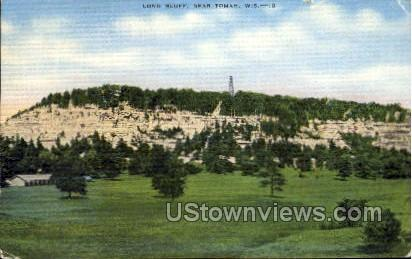Long Bluff - Tomah, Wisconsin WI Postcard