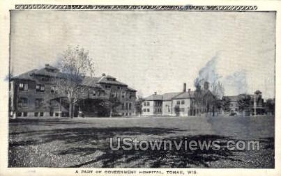 Government Hospital - Tomah, Wisconsin WI Postcard