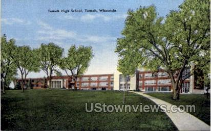 Tomah High School - Wisconsin WI Postcard