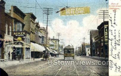 8th St. - Sheboygan, Wisconsin WI Postcard