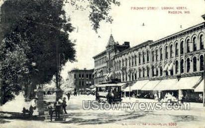 Pinckney St. - Madison, Wisconsin WI Postcard