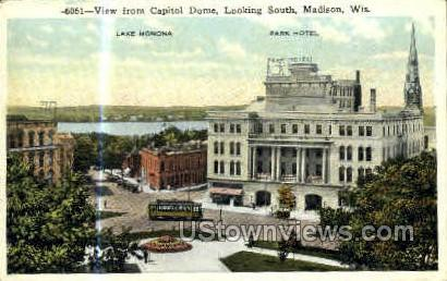 Park Hotel & Lake Monona - Madison, Wisconsin WI Postcard
