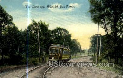 Curve near Whitefish Bay Resort - Wisconsin WI Postcard