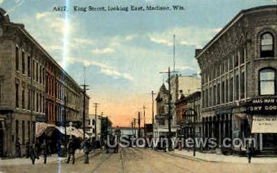 King St. - Madison, Wisconsin WI Postcard