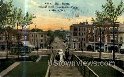 State St. - Madison, Wisconsin WI Postcard