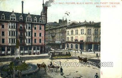 City Hall Square - MIlwaukee, Wisconsin WI Postcard