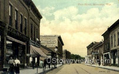 Main St. - Marinette, Wisconsin WI Postcard