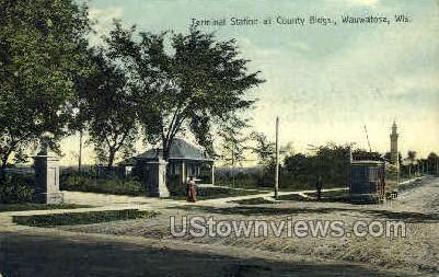 Terminal Station - Wauwatosa, Wisconsin WI Postcard