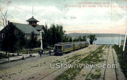 Waukesha Beach Hotel - Wisconsin WI Postcard