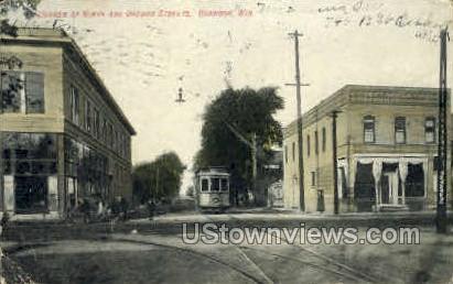 Corner of Ninth & Oregon Sts. - Oshkosh, Wisconsin WI Postcard