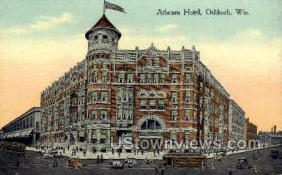 Athearn Hotel - Oshkosh, Wisconsin WI Postcard