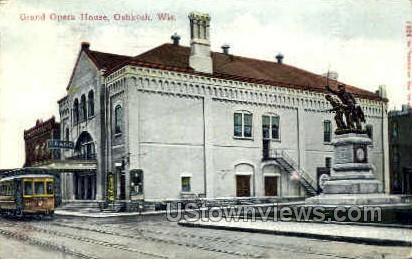 Grand Opera House - Oshkosh, Wisconsin WI Postcard