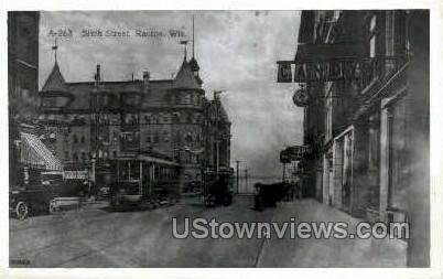 Reproduction - Sixth St. - Racine, Wisconsin WI Postcard