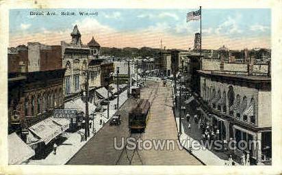 Grand Ave. - Beloit, Wisconsin WI Postcard