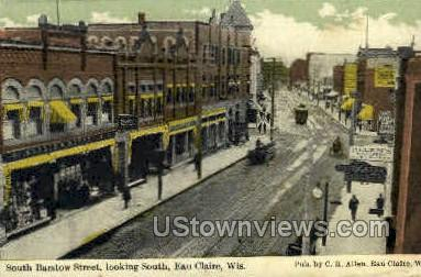Barstow St. - Eau Claire, Wisconsin WI Postcard