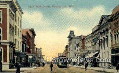 Main St. - Fond du Lac, Wisconsin WI Postcard