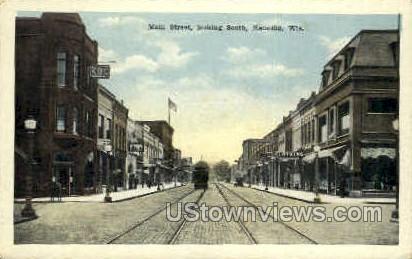 Main St. - Kenosha, Wisconsin WI Postcard