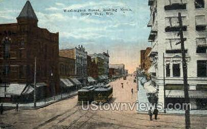 Waashington St. - Green Bay, Wisconsin WI Postcard