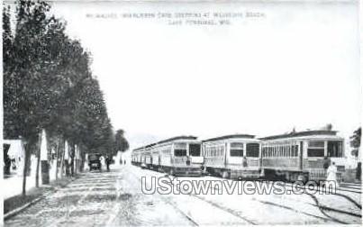 Repro-Milwaukee Interurban Cars - Lake Pewaukee, Wisconsin WI Postcard