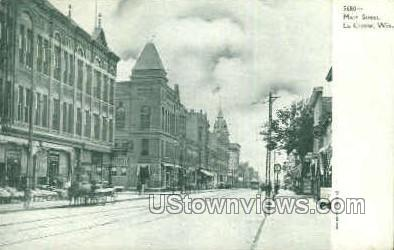 Main St. - La Crosse, Wisconsin WI Postcard