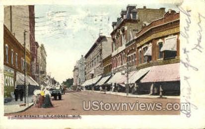 4th St. - La Crosse, Wisconsin WI Postcard