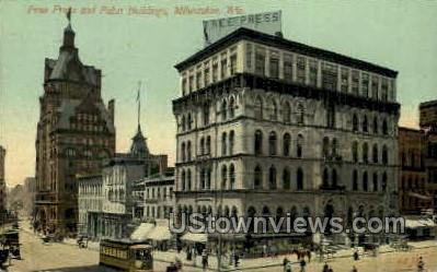 Free Press & Pabst Building - MIlwaukee, Wisconsin WI Postcard