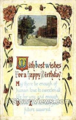 Happy Birthday - Misc, Wisconsin WI Postcard