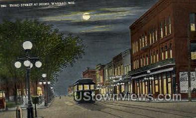 Third St. - Wausau, Wisconsin WI Postcard