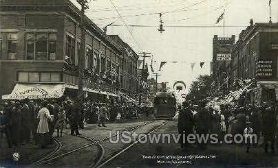 Real Photo - Third St. - Wausau, Wisconsin WI Postcard