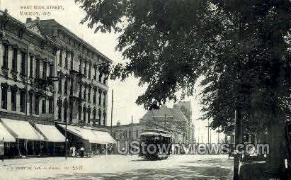 West Main St. - Madison, Wisconsin WI Postcard