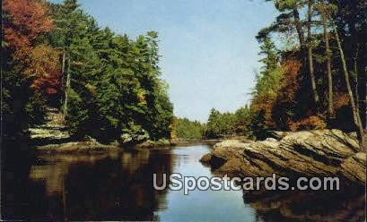 The Narrows - Upper Dells of the Wisconsin River Postcards, Wisconsin WI Postcard