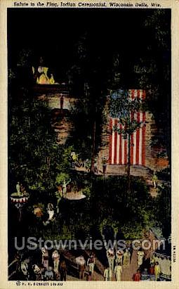Salute To The Flag - Wisconsin Dells Postcards, Wisconsin WI Postcard