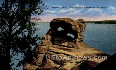 Demon's Anvil - Wisconsin Dells Postcards, Wisconsin WI Postcard