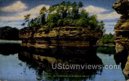 Lone Rock - Wisconsin Dells Postcards, Wisconsin WI Postcard