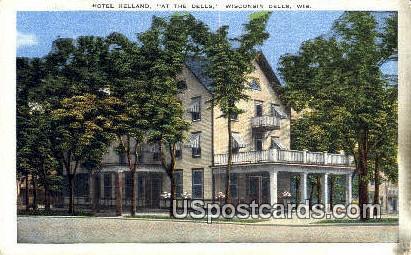 Hotel Helland - Wisconsin Dells Postcards, Wisconsin WI Postcard