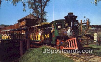 Train Ride at Fort Dells - Wisconsin Dells Postcards, Wisconsin WI Postcard