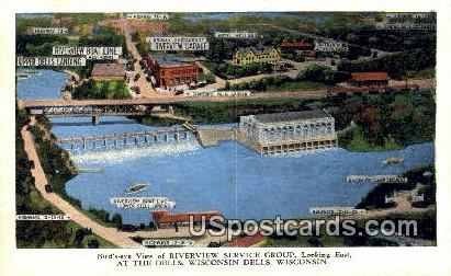 Riverview Service Group - Wisconsin Dells Postcards, Wisconsin WI Postcard