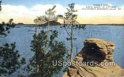 Demon's Anvil, Louis Bluff - Wisconsin Dells Postcards, Wisconsin WI Postcard