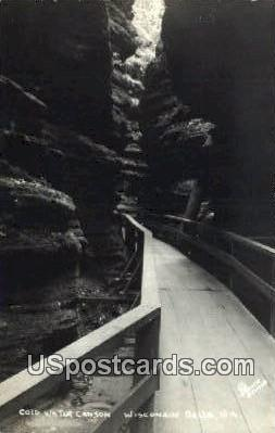 Cold Water Canyon - Wisconsin Dells Postcards, Wisconsin WI Postcard