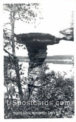 Stand Rock - Wisconsin Dells Postcards, Wisconsin WI Postcard