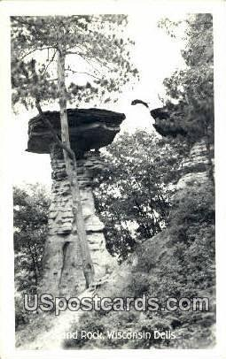 Island Rock - Wisconsin Dells Postcards, Wisconsin WI Postcard