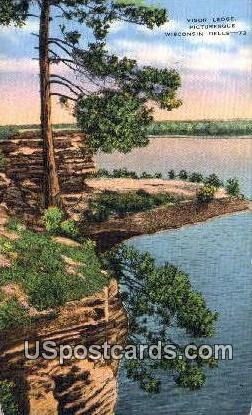 Visor Ledge - Wisconsin Dells Postcards, Wisconsin WI Postcard