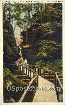 Witches Gulch, Boat Landing - Wisconsin River Dells Postcards, Wisconsin WI Postcard